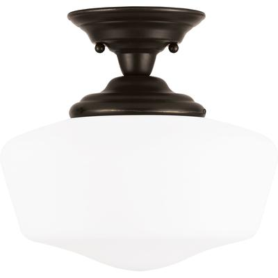 Academy Large 1-Light Semi-Flush Mount Ceiling Fixture