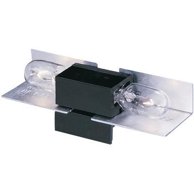 Lx Wedge Base Lampholder-12 - Black