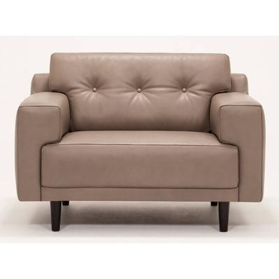 Remi Button Tufted Leather Chair