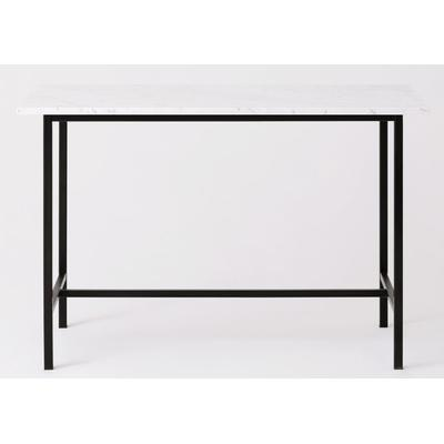 """Kendall 54"""" Counter Table with Marble Top - Black"""