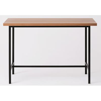 "Kendall 54"" Counter Table with Walnut Top - Black"