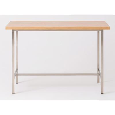 "Kendall 54"" Counter Table with Oak Top - Steel"
