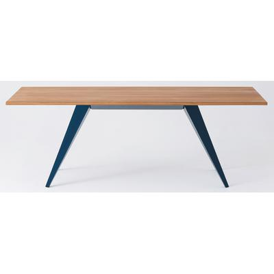 "Mesa 82"" Rectangular Table with Oak Top - Teal"