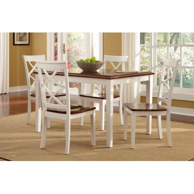 Harrison 5-Piece Dining Set - Cherry/White
