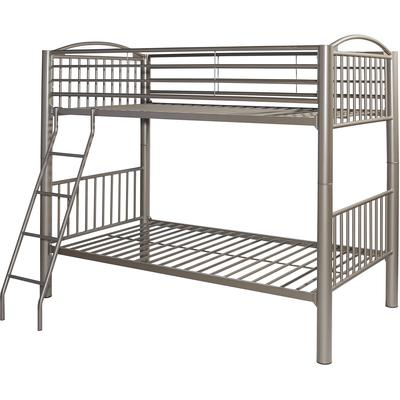 Heavy Metal Twin Over Twin Bunk Bed - Pewter