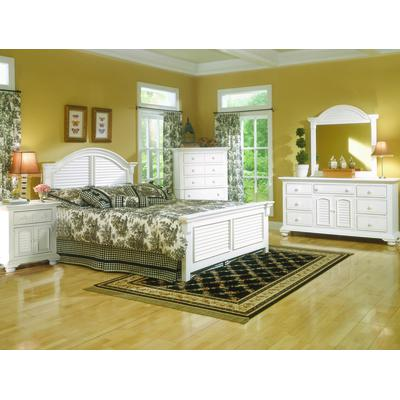 Cottage Traditions King Bed - Distressed White