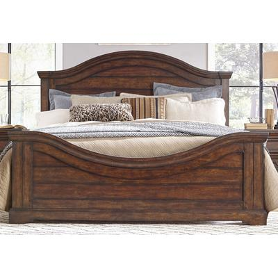 Stonebrook King Panel Bed - Light Distressed Brown