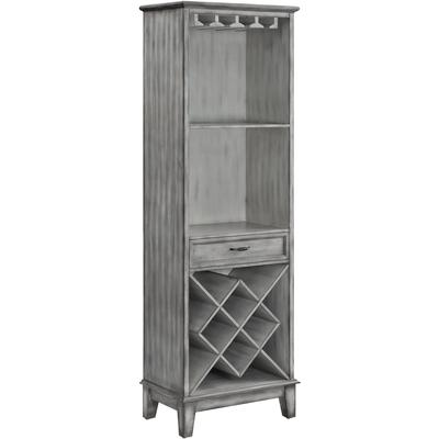 Napa Tall 1-Door Parchment Wine Cabinet