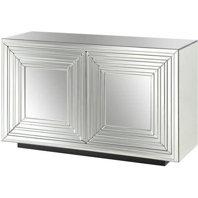 Millennium 2-Door Mirrored Cabinet