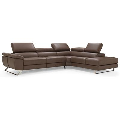 Natalia Right Hand Facing Sectional - Brown