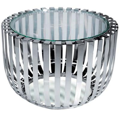Roza End Table - Stainless Steel