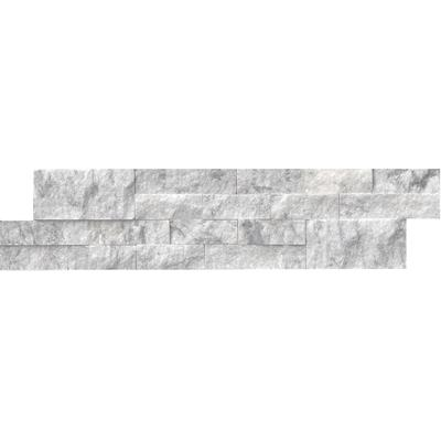 "Arabescato Carrara 6"" x 24"" Stacked Marble Panel"