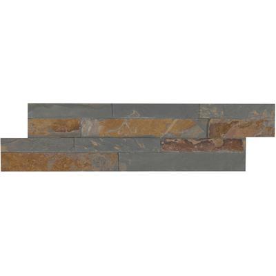 "Gold Rush 4.5"" x 16"" Mini Stacked Slate Ledger Panel"