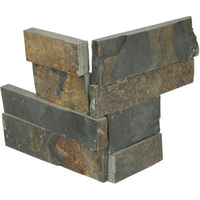 "Premium Black 4.5"" x 9"" Slate Corner Panel"