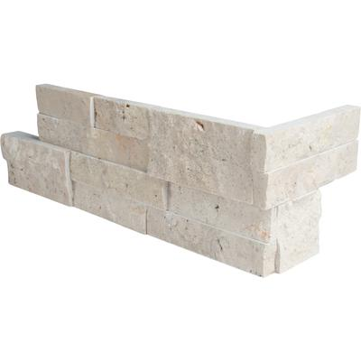 "Roman Beige 6"" x 18"" Travertine Corner Panel"
