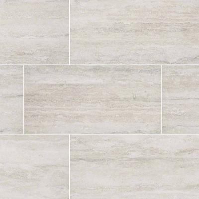 """Veneto White 12"""" x 24"""" Matte Porcelain Floor and Wall Tile"""