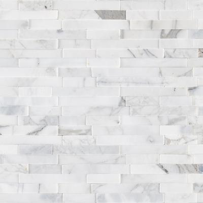 Calacatta Cressa Interlocking 3D STIK Marble Wall Tile