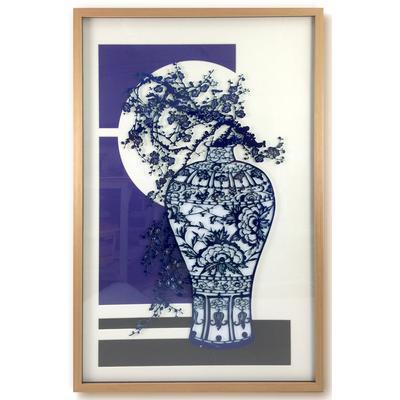 Flow Blue Series 1 Framed Art