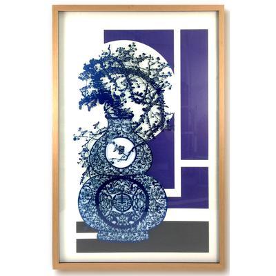 Flow Blue Series 3 Framed Art