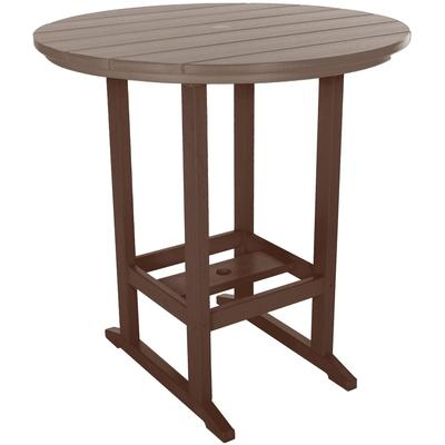 High Dining Table - Chocolate and Weatherwood