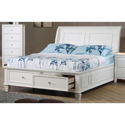 Selena Full Sleigh Bed with Footboard Storage