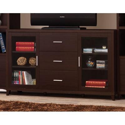 2-Door TV Stand with Adjustable Shelves
