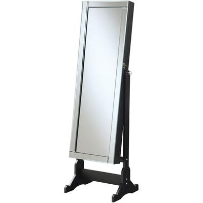 Jewelry Cheval Mirror with Interior Storage