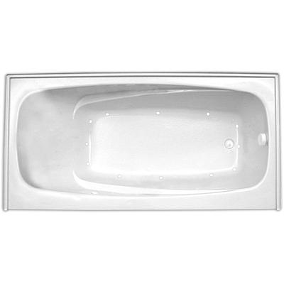 Escape 6034SKTF Air Silver Whirlpool Tub with Skirt, Tile Flange, and Right Hand Drain