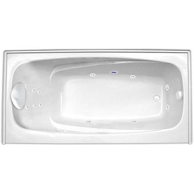 Escape 6034SKTF Hydro Gold Whirlpool Tub with Skirt, Tile Flange, and Right Hand Drain