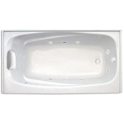 Mystique 6032SKTF Hydro Gold Whirlpool Tub with Skirt, Tile Flange, and Right Hand Drain