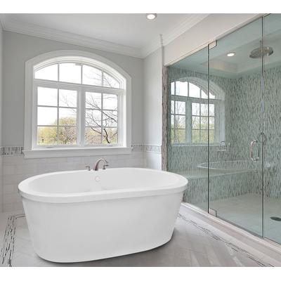 Rosabella 7242SD Combination 21 Jet Free Standing Whirlpool Tub with Access Panel