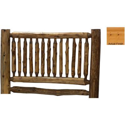 Cedar Log Cal King Small Spindle Headboard - Natural Cedar