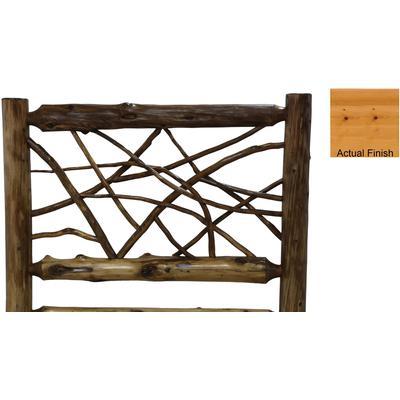 Cedar Log King Twig Headboard - Natural Cedar