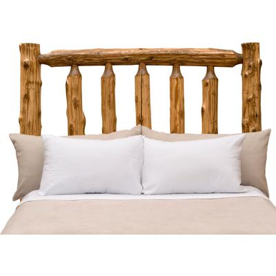 Cedar Log Single Traditional Headboard - Natural Cedar