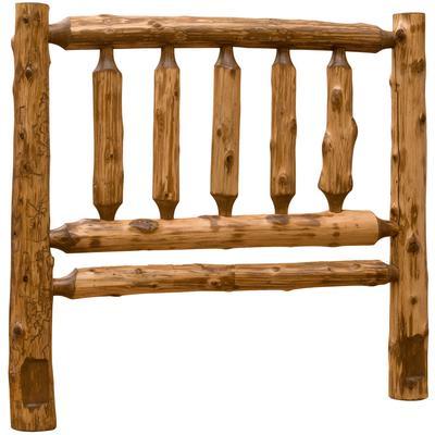 Cedar Log Single Traditional Headboard - Vintage Cedar