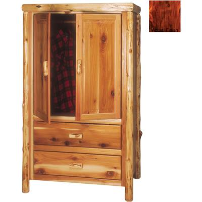Cedar Log Premium 2-Drawer Armoire - Vintage Cedar