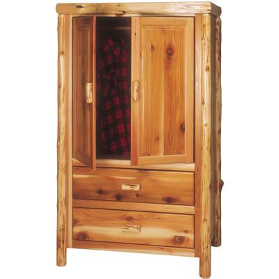 Cedar Log Value 2-Drawer Armoire - Natural Cedar
