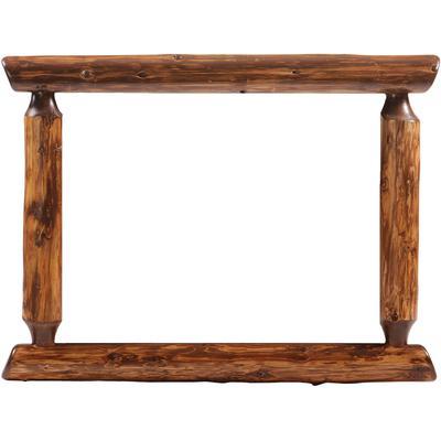 "Cedar Log 32"" x 36"" Half-Log Mirror Frame - Vintage Cedar"