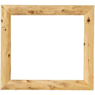"Cedar Log 36"" x 36"" Mitered Mirror Frame - Natural Cedar"