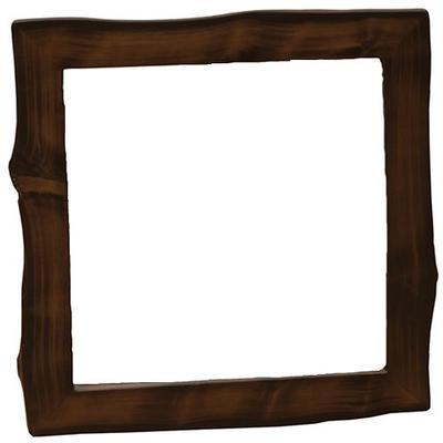 "Cedar Log 48"" x 36"" Mirror Frame - Modern Cedar"