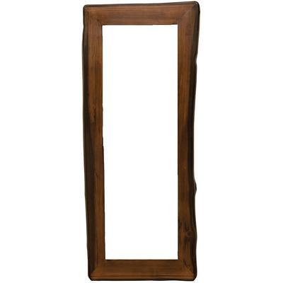 Cedar Log Floor Mirror Frame - Modern Cedar