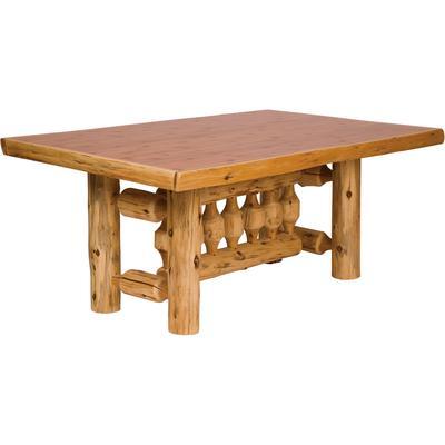 Cedar Log 8-FootTraditional Dining Table - Natural Cedar