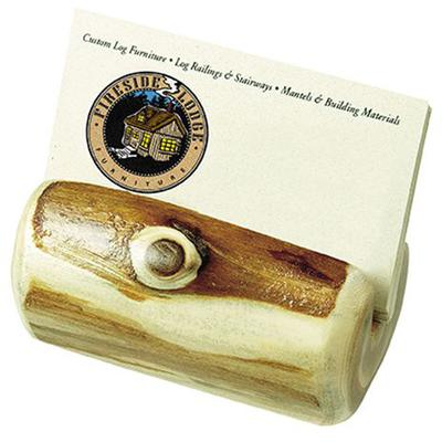 Cedar Log Business Card Holder - Natural Cedar