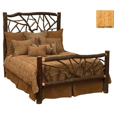 Hickory Log Queen Twig Bed - Natural Hickory