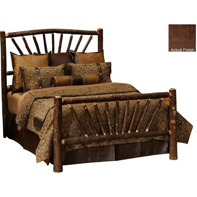 Hickory Log Double Sunburst Bed - Espresso