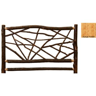 Hickory Log Double Twig Headboard - Natural Hickory