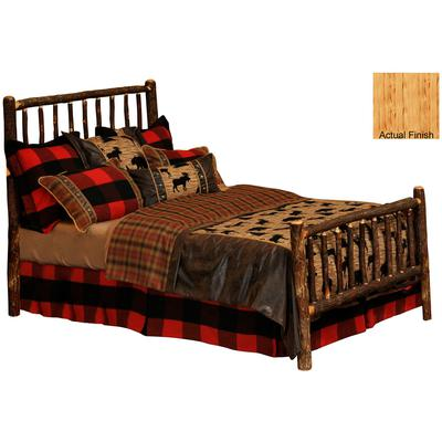 Hickory Log Single Traditional Bed - Natural Hickory
