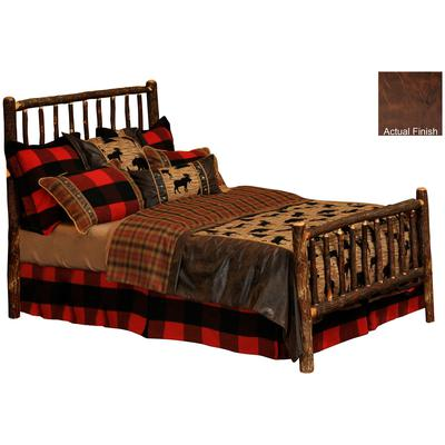 Hickory Log Single Traditional Bed - Espresso
