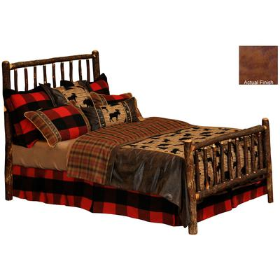 Hickory Log Single Traditional Bed - Cognac