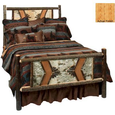 Hickory Log Single Adirondack Bed - Natural Hickory